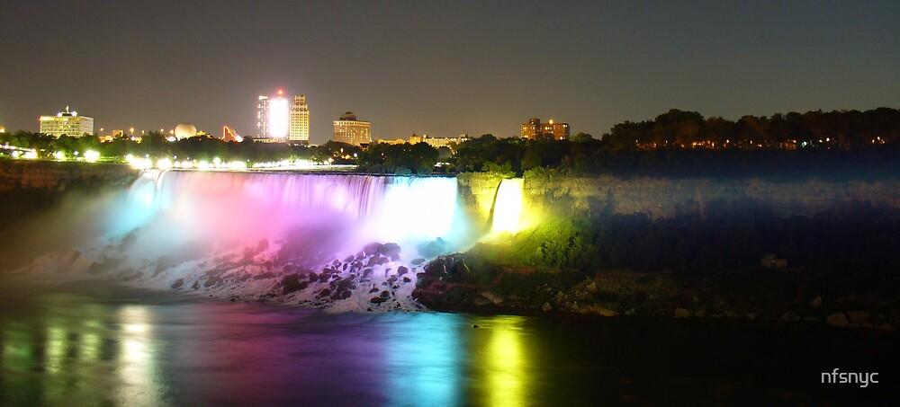 Niagara Falls Illuminated by nfsnyc