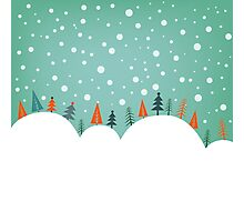Snowy Holiday Hill Photographic Print