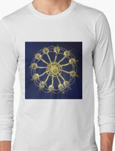 Coughton Court, Chandelier from below. Long Sleeve T-Shirt