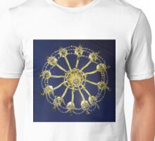 Coughton Court, Chandelier from below. Unisex T-Shirt
