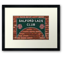 The Smiths Salford Lads Club Framed Print