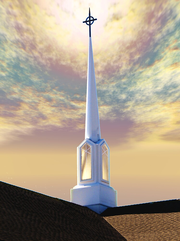 Steeple at Sunrise by Wendy J. St. Christopher