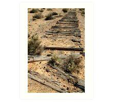 Ruins Old Ghan Railway,Oodnadatta Track Art Print