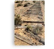Ruins Old Ghan Railway,Oodnadatta Track Metal Print