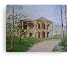 Stonework House on a Hill Canvas Print
