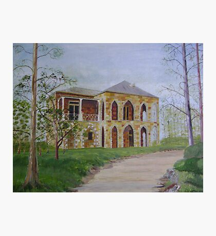 Stonework House on a Hill Photographic Print