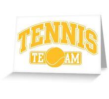 Tennis Team Greeting Card