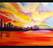 Sydney Harbour Sunset by Tracey Read