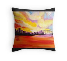 Sydney Harbour Sunset Throw Pillow