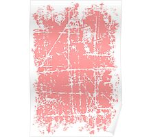 Scratched Light Pink Surface Poster