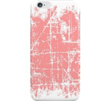 Scratched Light Pink Surface iPhone Case/Skin