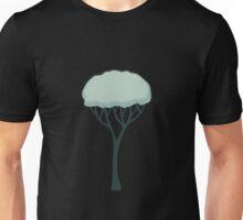 Glitch Substrata tree straight snow Unisex T-Shirt
