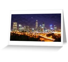 Perth's Night sky Greeting Card