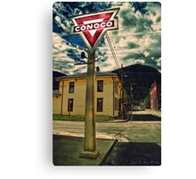 A Sign From  Past Times Canvas Print