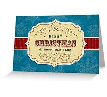 Vintage Label Christmas Card - Merry Christmas Greeting Card