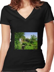 Rural Topsham Women's Fitted V-Neck T-Shirt