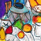 Pottery & Fruit (after Cezanne) by RobynLee