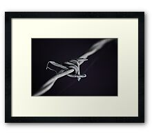 barb wire Framed Print