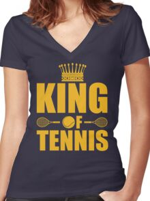 King of Tennis Women's Fitted V-Neck T-Shirt