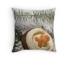 Holiday Cupcake Throw Pillow