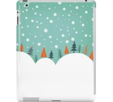 Snowy Holiday Hill iPad Case/Skin