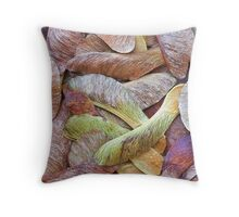 Sycamore Seeds Throw Pillow