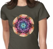 Sacred Cells Mandala Womens Fitted T-Shirt