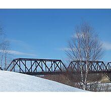 Winter Trestle Photographic Print