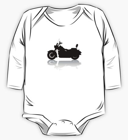 Cruiser Motorcycle Silhouette with Shadow One Piece - Long Sleeve