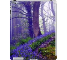 Bluebells in the Forest Rain iPad Case/Skin