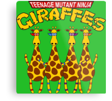 Teenage Mutant Ninja Giraffes Metal Print