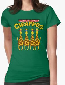 Teenage Mutant Ninja Giraffes Womens Fitted T-Shirt