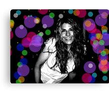 Katie in acidland Canvas Print