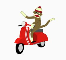 Sock Monkey Vespa Scooter Unisex T-Shirt