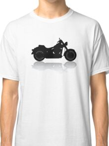 Cruiser Motorcycle Silhouette with Shadow Classic T-Shirt