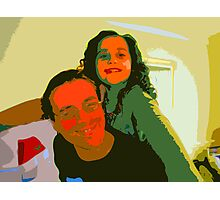 Storm and Dad in acidland Photographic Print