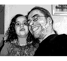 Storm and Dad, love in black and white Photographic Print