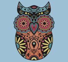 Sugar Skull Owl One Piece - Short Sleeve