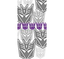 The Iconic Decepticons (white) Photographic Print