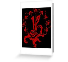 12 Monkeys - Terry Gilliam - Red on Black Greeting Card