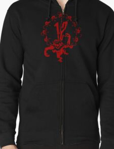 12 Monkeys - Terry Gilliam - Red on Black Zipped Hoodie