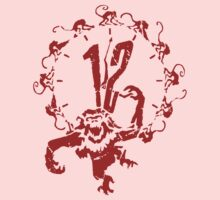 12 Monkeys - Terry Gilliam - Red on White Kids Tee