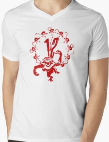 12 Monkeys - Terry Gilliam - Red on White Mens V-Neck T-Shirt