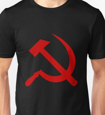 Communist Hammer And Sickle Unisex T-Shirt