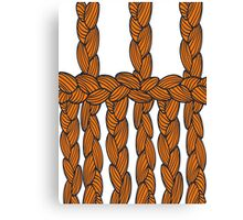 pigtail ornament Canvas Print
