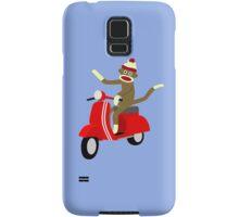 Sock Monkey Vespa Scooter Samsung Galaxy Case/Skin