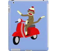 Sock Monkey Vespa Scooter iPad Case/Skin