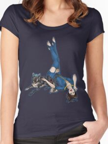 K9 UNT and Pin-Up Women's Fitted Scoop T-Shirt