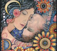 The Sun and The Moon Romantic Art of Lovers. by Liza Paizis