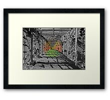 The Color is Spreading Framed Print